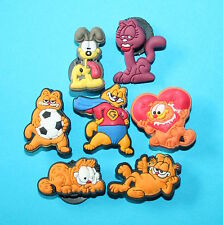 Garfield Shoe Charms Loom Bands Bracelet Favours Cake Decorations Toppers NEW