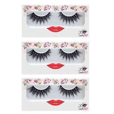 "LASHXO LASHES ""LUCKY LOLA"" 3pk Compare to Shu Uemura,MAC,Sephora,House of Lashes"