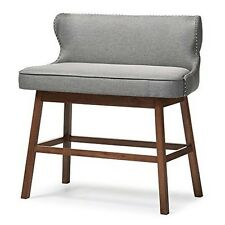 Gradisca Modern&Contemporary Grey Fabric Button-Tufted Upholstered Bar Bench NEW