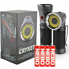 NEBO CRYKET 3-in-1 240 lumen LED Flashlight/C•O•B worklight/Red Flasher w/4X AAA