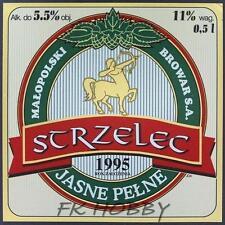 Poland Brewery Jędrzejów Strzelec Beer Label Bieretikett Centaur Horse je72.2