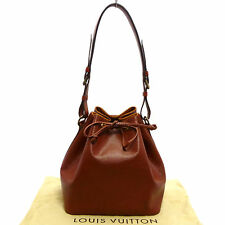 Auth LOUIS VUITTON Epi Petit Noe Draw String Shoulder Bag Brown M44103 #K160652