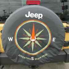 For Spare Tire Cover Fit For JEEP Heavy Black Denim Vinyl Tyre Covers 17inch New