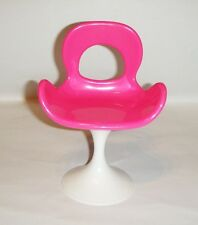 Barbie Doll Sized Furniture For Doll Pink Mod Chair New ac86