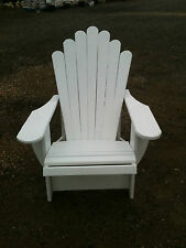Cape Cod Adirondack Outdoor Timber Chair (White)