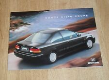 Honda Civic Coupe Brochure 1997 - 1.6i LS & 1.6i SR - UK Market