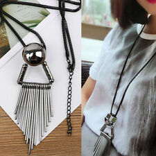 New Lady Elegant Tassel Long Chain Exaggerated Pendant Sweater Necklace Jewelry