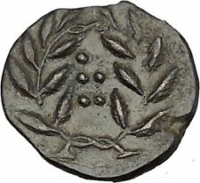 HIMERA in SICILY 415BC NYMPH & Success Wreath Genuine Ancient Greek Coin i51596