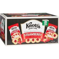 Knott's Berry Farm Premium Shortbread Cookies, Strawberry, 2 oz, 36 ct