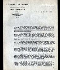 """PARIS (X°) PRESSE / JOURNAL """"L'EFFORT FRANCAIS / J.S. LAFFITTE"""" en 1933"""