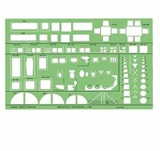 Linex Universal Architects 1:50 Template Room Furniture Stencil - 1259s