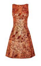 KAREN MILLEN Rose Gold Floral Jacquard Dress Size UK 10 Sold Out!!!