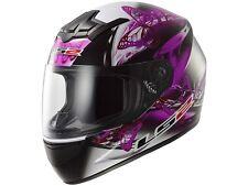 Ls 2 ff352 Rookie flutter negro/púrpura talla XXS motocicleta/Roller casco