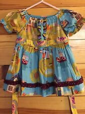 *MATILDA JANE* Girls PAINT BY NUMBERS Sidewalk Chalk Fiona Peasant Top EUC Sz 2