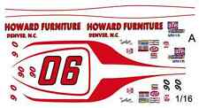 #06 Neil Castles Howard Furniture Dodge 1/16th Scale WATERSLIDE DECALS