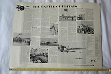 """Film summary for """"The Battle of Britain"""" 1969. Vintage Black&White poster"""