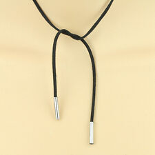 Retro Women Girl Choker Suede Leather Black Rope Long Bohemian Necklace New