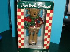 Woodlook Ornament Jointed Wooden Moose Christmas Figurine