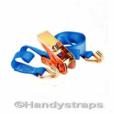 25mm 5 Meter Blue 800kg Ratchets Tie Down Straps Lorry Lashing Trailer