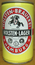 HOLSTEN-LAGER BIER cs Beer CAN w/ Horse & Knight w/ sword, Hamburg, GERMANY 1/1+