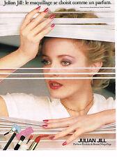 PUBLICITE ADVERTISING 044  1987  JULLIAN GIL   cosmétiques 2