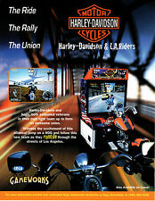 HARLEY-DAVIDSON & L.A. RIDERS Motercycle Original VIDEO ARCADE GAME Flyer SEGA