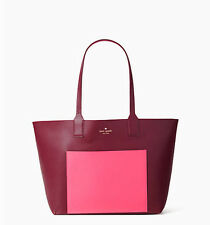 Kate spade Posey JONES STRET Reversible tote Harmony Pink Wine  NWT