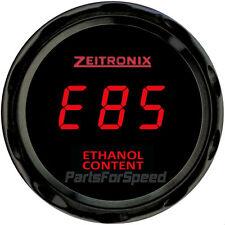 Zeitronix ECA-2 Ethanol Content Analyzer with Flex Fuel Sensor and Gauge Red