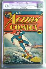 Action Comics # 25  Clark at the Daily Planet !  CGC 5.0 rare Golden Age book !
