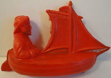 Irwin 1940's Company Salesroom Sample Celluloid Red Man Sailor in a Boat Sails