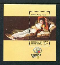Guinea Bissau 560 MNH, Paintings by Spanish Artists, 1984. Clothed Maja,  x19432