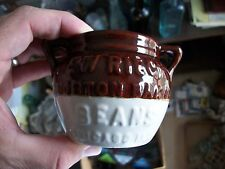 RARE STONEWARE POTTERY BOSTON BAKED BEANS ASHTRAY POT EW RIECK CHICAGO ILLINOIS