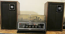 Vintage Zenith J584W Stereo System Receiver Record Player Allegro 1000 Speakers