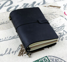 cowhide genuine leather Notebook Journals black color  gift diary  D0421