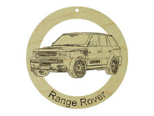 Land Rover Range Rover Natural Maple Solid Hardwood Ornament Sanded Finish