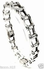 VINTAGE STYLE TAXCO MEXICAN 925 STERLING SILVER BIKE CHAIN BRACELET MEXICO