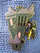 Disney Auctions Sleeping Beauty Castle Maleficent Dragon slider pin LE