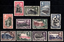 Ceylon KGV 1935 USED SG368 to SG378