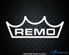 """Remo Drums Decal / Laptop Sticker - WHITE - 8"""""""