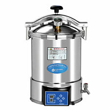24L Medical High Pressure Steam Autoclave Sterilizer Portable Stainless Steel CE
