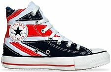 Converse All Star Chucks Scarpe EU 44 UK 10 The Who INGHILTERRA FLAG punk Union Jack
