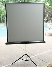 Vintage 60s Relient  40 X 40 FILM PROJECTOR SILVER MOVIE Screen with Bag