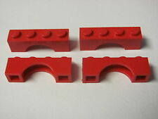 LEGO 3659 @@ Brick, Arch 1 x 4  (x4) @@ RED @@ ROUGE