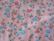 Estate Fabric Vintage Retro Calico Floral Flower Butterfly Cranston BTY Quilt