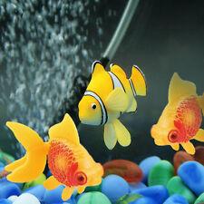 2x 5.4cm Schwimmende Künstlich Deko Fisch Ornament Dekoration Aquarium Fish Tank
