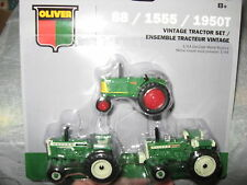 NEW! 1/64 Agco Oliver 3 pc. tractor set w/ 88 1950T 1555 models  by Ertl, NICE