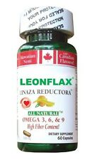 Leonflax Canadian Flaxseed 60 Capsules Plus Fat Reducer  Weight Loss