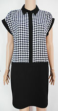 New Austin Reed size 10 Black White houndstooth Smart Dress