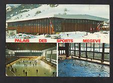 MEGEVE (74) PATINOIRE olympique , PISTE de CURLING & PISCINE animée en 1969