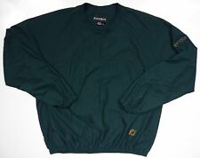FOOTJOY FJ MENS LARGE V NECK GOLF JACKET COAT GREEN GOLD EMBROIDERED LOGO SPORTS